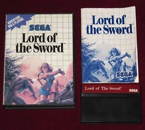 Details about SEGA MASTER SYSTEM - LORD OF THE SWORD! COMPLETE GAME CLASSIC  RETRO GAMING UK