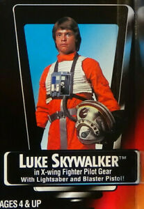 Luke-Skywalker-X-Wing-Long-Saber-Unopened-Star-Wars-POTF-2-1995-Figure-Red