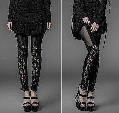 Pantalon legging collant voilage dentelle gothique lolita burlesque Punkrave