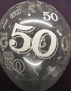 Image Is Loading 20 Clear 50th Birthday Golden Anniversary Helium Air