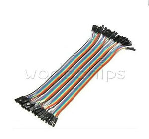 40PCS-Dupont-wire-20cm-Cables-Line-Jumper-1p-1p-pin-Connector-Female-to-Female