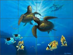 Sea-Turtle-Tile-Backsplash-Ceramic-Mural-Wilkie-Undersea-Fish-Art-POV-JWA017