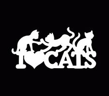 I Love Cats Kitten Car Truck Window Wall Laptop Vinyl Decal Sticker Funny