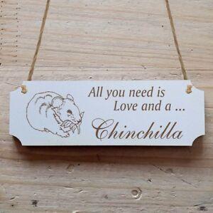 Dekoration Unparteiisch Türschild Dekoschild « Chinchilla » Seien Sie In Geldangelegenheiten Schlau Welt Der Tiere