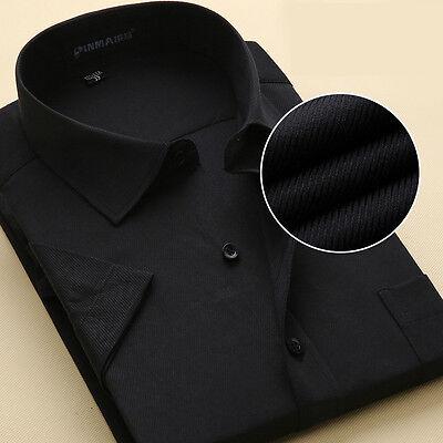 New Men's Formal Slim Casual Business Short Sleeve Luxury Dress Shirts TSD109