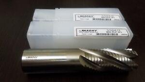 """(2 PCS) NADAV™ 1 Inch M42 4 Flute HSS-Cobalt Roughing End Mill Tool 1""""x1x2x4.1/2"""