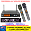 SONKEN-700D-5-2X-PROFESSIONAL-UHF-WIRELESS-MICROPHONES-WITH-LED-DISPLAY-amp-CASE thumbnail 1
