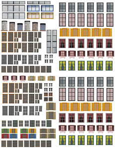 Windows-and-Doors-Combo-Pack-Scenery-Sheets-for-O-Scale-Model-Train-Layouts