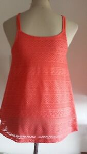 BNWT-GIRLS-AGE-14-ORANGE-LACE-WORK-TOP-BY-CANDY-CONTURE