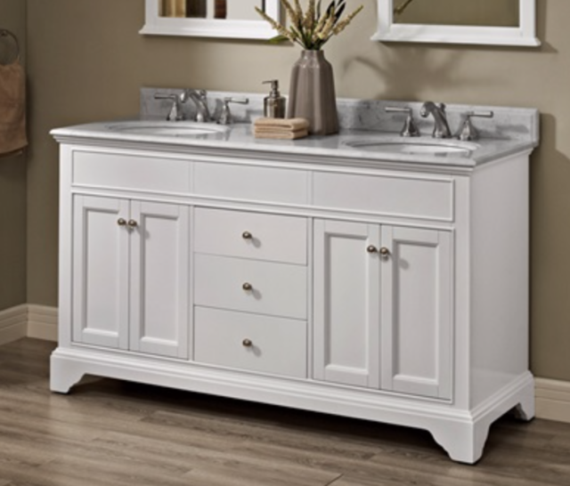 Fairmont Designs Framingham 60 Double Bowl Vanity Polar White 1502v6021d