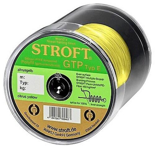 STROFT GTP E 150 m Zitrusgelb citrus y Geflochtene Angelschnur von E06 bis E8