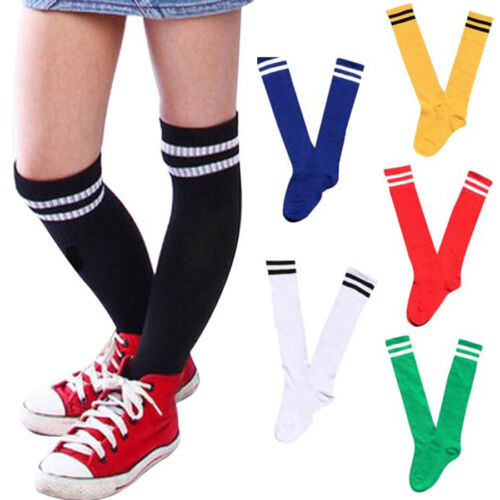 Unisex Kids Sport Football Stockings Over Knee High Sock Baseball Hockey Socks L