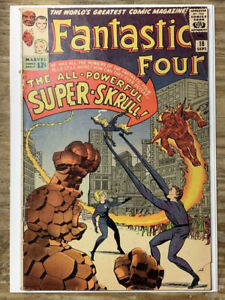 Fantastic-Four-18-Silver-Age-Marvel-Comic-Book-1st-Super-Skrull-GD