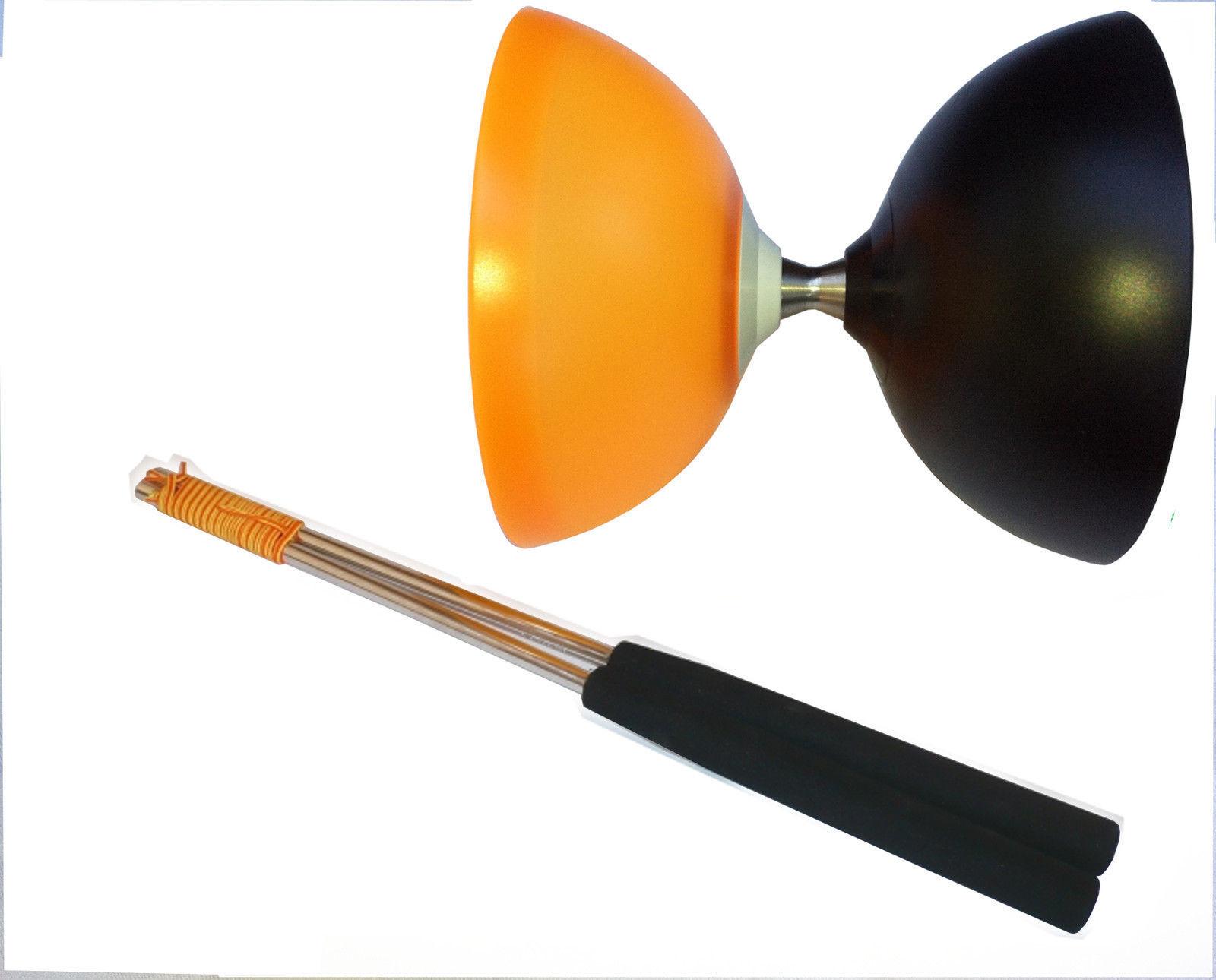 HENRYS VISION FREE HUB DIABOLO SCHWARZ-Orange    FREILAUF Diabolo Henrys Alusticks 13b029
