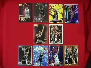 TIM DUNCAN 10 DIFFERENT BKB CARD LOT PREMIUMS ENCORE PARALLEL SAN ANTONIO SPURS