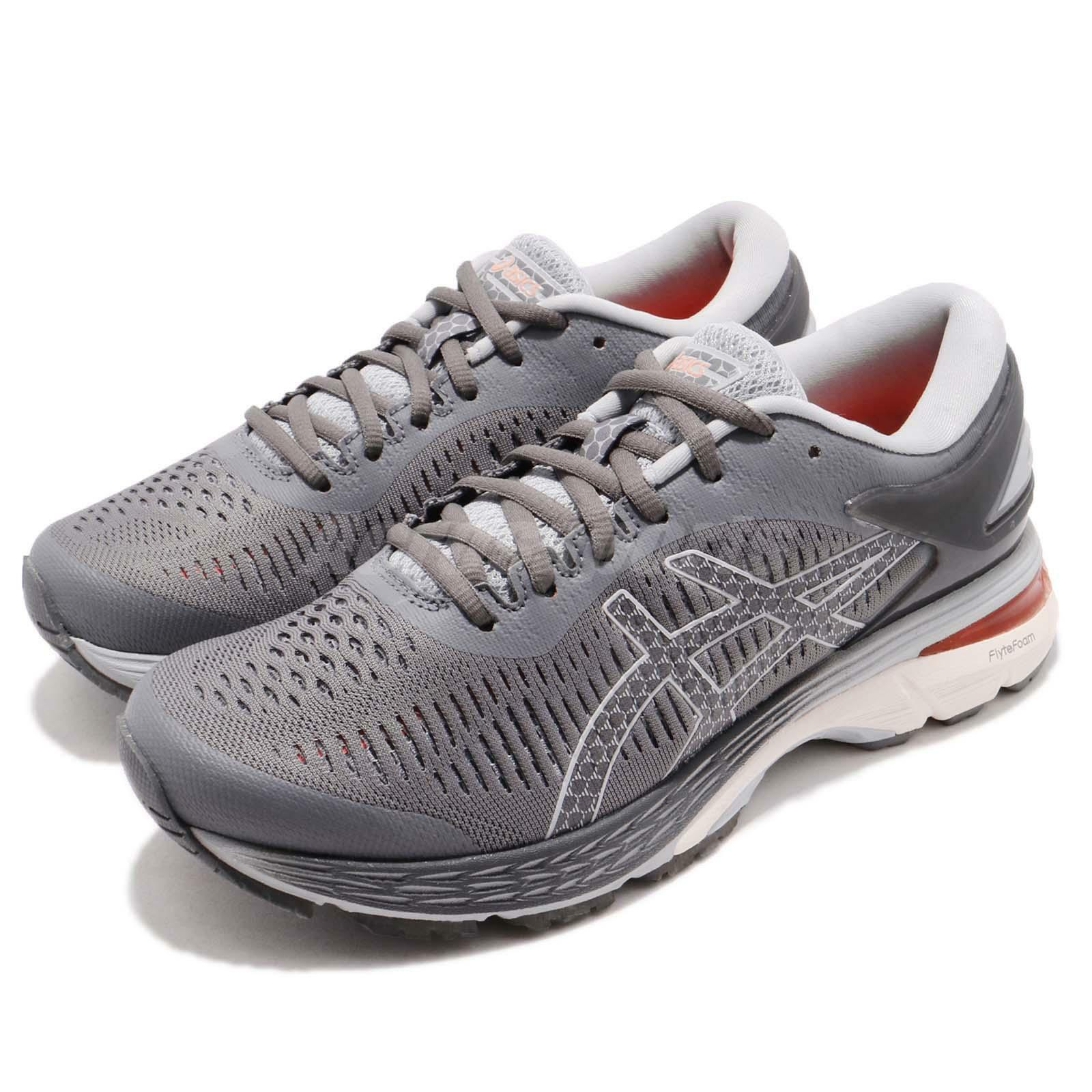 Asics Gel-Kayano 25 Carbon Grey White Women Running Shoes Sneakers 1012A026-020