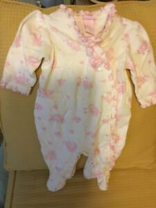 Girls' Clothing (newborn-5t) Bin Ideal Gift For All Occasions Earnest Euc 3m Girl's 1p Footed Sleeper By Savannah Baby W/ruffles Baby & Toddler Clothing