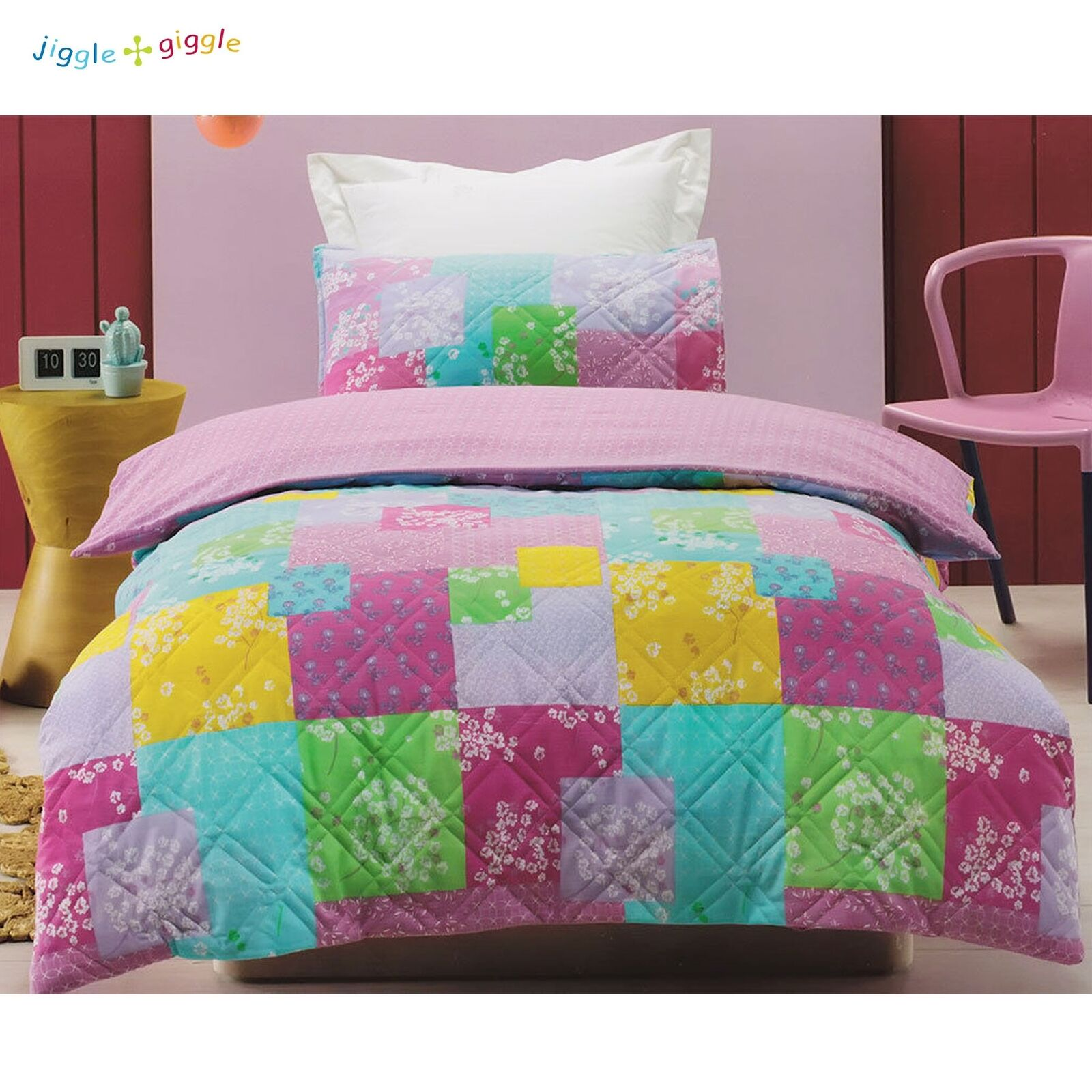 Bella Lightly Quilted Quilt Cover Set by Jiggle & Giggle