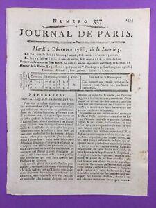 Eloge-de-Buffon-1788-Histoire-Naturelle-Rare-Journal-de-Paris-Theatre-Francais