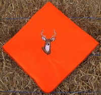 Embroidered Fleece Blanket Whitetail Buck Deer Orange