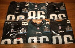 new style 69e57 82a9d Details about Zach Ertz Super Bowl Jersey LII 52 Patch Green/Black Nike  Philadelphia Eagles