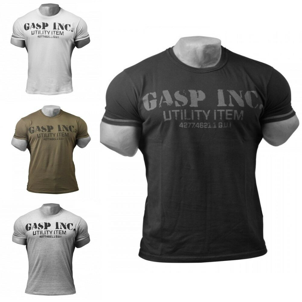 GASP Fitness und Workout T-Shirt, Fitness-Shirt, Sport-Shirt  | Neues Design
