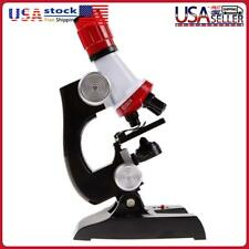 Kids Educational Microscope Kit Science Lab Led 100 1200x Toy Home School G