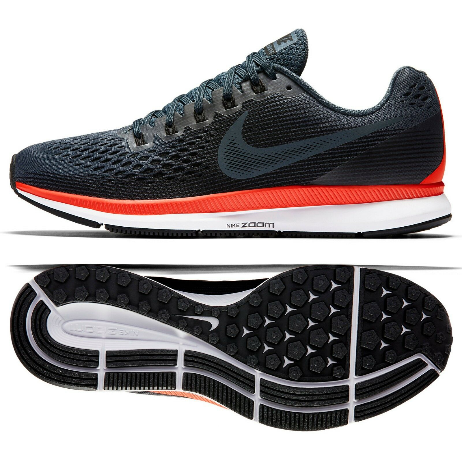 Nike Air Zoom Pegasus 34 880555-403 bluee Fox Crimson Men's Running shoes Sz 14