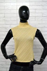 Maglia-BYBLOS-BLU-Donna-Taglia-Size-44-Vintage-Maglietta-Shirt-Top