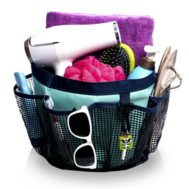 Fancii Portable Mesh Shower Caddy Tote Quick Dry 7 Large Storage ...