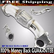 "3"" SS Turbo Elbow Downpipe FOR 240SX 89-98 S13 S14 S15 SR20 CA18 KA24"