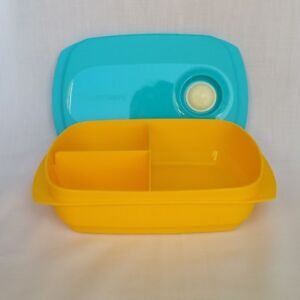 Tupperware-Microwaveables-Reheatable-Divided-Bento-Lunch-Box-1L-Free-Shipping