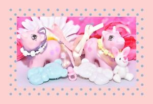 My-Little-Pony-MLP-G1-Vtg-Newborn-Baby-Twins-Sniffles-amp-Snookums-Accessories