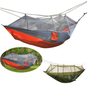 Double-2-Person-Portable-Parachute-Nylon-Fabric-Hammock-Hanging-Bed-Sleep-Swing