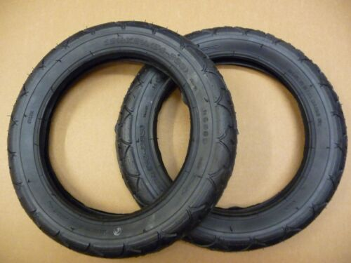 "TYRES 12-1//2/"" x 2-1//4/"" Bike Pram SLICK Pushchair Buggy 54-506 Urban Quinny Buz"