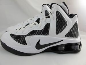 0e0598d63960bd NEW MEN S NIKE SHOX AIR HYPERBALLER TB 454168-100 WHITE BLACK