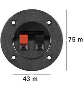 Tv- & Heim-audio-zubehör Gut Ausgebildete Lautsprecher-terminal,2pol,rot/schwarz,rund Für Versenkten Einbau,2er Setpreis
