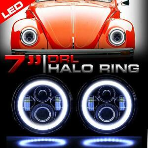 Image Is Loading Round Halo Pro Projector Black Headlights Upgrade For