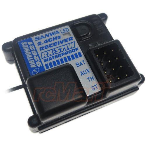 Sanwa 2.4 GHz FHSS2 3Channel Receiver IPX4 Waterproof Car On Off Road #RX-371W