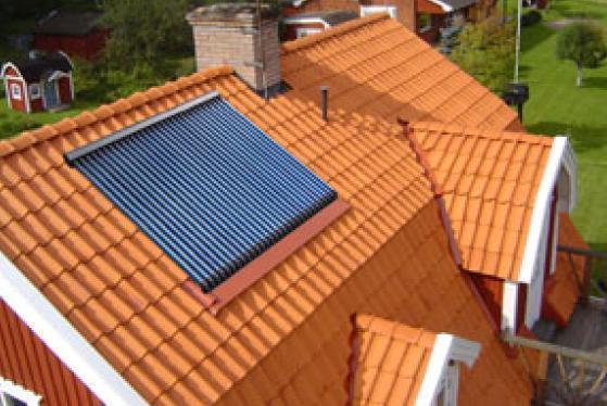 Solarkollektor inkl. Dachmontage, Vakuumröhrenkollektor HCA30, Solaranlage Solar