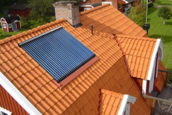 Solar Kollektor inkl. Dachmontage, Vakuumröhrenkollektor HCA 20 f. Solaranlage