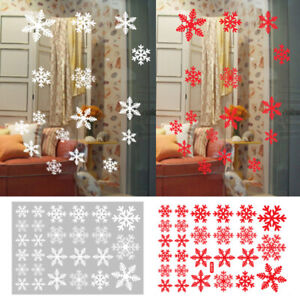 Merry-Christmas-Snowflake-Window-Store-Decal-Wall-Stickers-Xmas-Home-Decoration