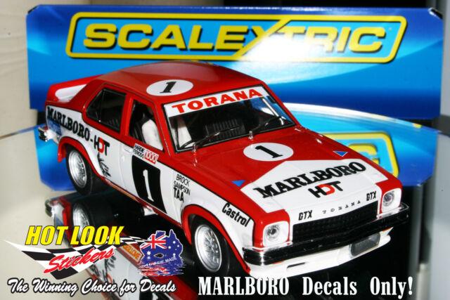 Scalextric Peter Brock Holden L34 Torana Slot Car ( MARLB0R0 Vinyl Decals Only)