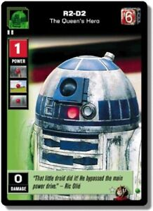 Star Wars Young Jedi CCG Battle Of Naboo R2-D2 The Queen/'s Hero #11