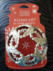 Yankee-Candle-Illuma-Lid-Jar-Candle-Accessory-Silver-and-Gold-Angels-Snowflake