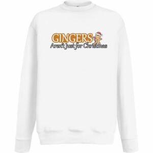 Gingers-Arent-Just-For-Christmas-White-Jumper-Xmas-Gingerbread
