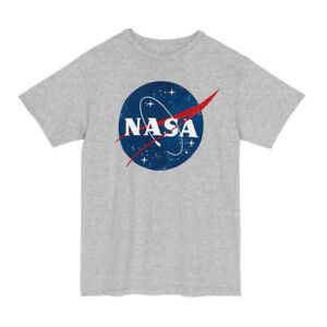 NASA-Space-Logo-Officially-Licensed-Adult-Unisex-T-Shirt-Heather-Grey