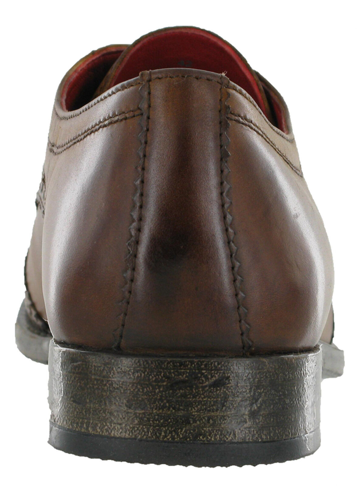 Tan Tan Tan Brogue Schuhes Base London Leder Coniston 5 Eye  Herren Formal Lined Lace Ups 148337