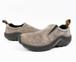 Merrell-Womens-Jungle-Moc-Pewter-Loafers-Slip-on-Shoes-Size-6-5