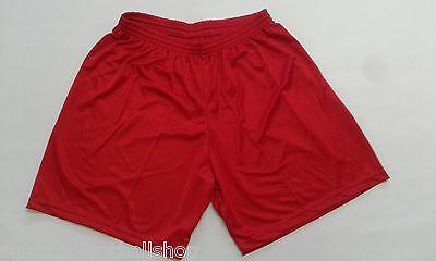 Consegna Veloce Stock 18 Pantaloncino Calcio Calcetto Misura L Colore Rosso Poliestere Footex Materiale Selezionato